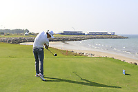 Soomin Lee (KOR) during the first round of the NBO Open played at Al Mouj Golf, Muscat, Sultanate of Oman. <br /> 15/02/2018.<br /> Picture: Golffile   Phil Inglis<br /> <br /> <br /> All photo usage must carry mandatory copyright credit (&copy; Golffile   Phil Inglis)