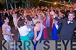 Roses celebrating during Midnight Madness at Denny Street Stage on Tuesday.
