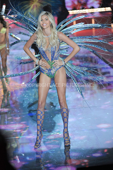 WWW.ACEPIXS.COM<br /> November 10, 2015 New York City<br /> <br />  Devon Windsor walking the runway at the 2015 Victoria's Secret Fashion Show at Lexington Avenue Armory on November 10, 2015 in New York City.<br /> <br /> Credit: Kristin Callahan/ACE<br /> Tel: (646) 769 0430<br /> e-mail: info@acepixs.com<br /> web: http://www.acepixs.com
