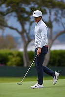 Thorbjorn Olesen (DEN) after barely missing his putt on 14 during round 1 of the 2019 US Open, Pebble Beach Golf Links, Monterrey, California, USA. 6/13/2019.<br /> Picture: Golffile | Ken Murray<br /> <br /> All photo usage must carry mandatory copyright credit (© Golffile | Ken Murray)