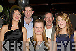 PARTY: Having a great time at the New Years Masquerade Party in The Station House Blennerville, on Thursday night 31st December 09. Front l-r: Caroline Walsh, Laura White and Deirdre Poff. Back l-r: Michael Walsh and George Poff.. ....