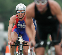 15 JUL 2007 - LORIENT, FRA - Brandon Marsh (USA) - World Elite Mens Long Distance Triathlon Championships. (PHOTO (C) NIGEL FARROW)