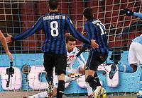 NAPOLI 25/01/2012 - COPPA ITALIA  2011/2012  QUARTI. INCONTRO NAPOLI - INTER. NELLA FOTO  MORGAN DE SANCTIS.FOTO CIRO DE LUCA