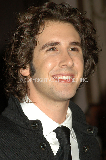 WWW.ACEPIXS.COM . . . . . ....NEW YORK, APRIL 20, 2005....Josh Groban at the Breast Cancer Research Foundation's Annual Red Hot and Pink Party held at the Waldorf Astoria.....Please byline: KRISTIN CALLAHAN - ACE PICTURES.. . . . . . ..Ace Pictures, Inc:  ..Craig Ashby (212) 243-8787..e-mail: picturedesk@acepixs.com..web: http://www.acepixs.com