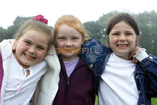 Leanne Dunne, Stamullen, Aine Dunne, Duleek and Caoimhe Daly, Duleek at the Ardcath Sports on Sunday..Picture Paul Mohan Newsfile