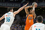 Real Madrid Santiago Yusta and Valencia Basket Erick Green during Liga Endesa match between Real Madrid and Valencia Basket at Wizink Center in Madrid , Spain. March 25, 2018. (ALTERPHOTOS/Borja B.Hojas)