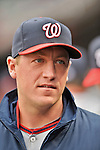 11 April 2012: Washington Nationals pitcher Jordan Zimmermann returns to the clubhouse after a game against the New York Mets at Citi Field in Flushing, New York. The Nationals shut out the Mets 4-0 to take the rubber match of their 3-game series. Mandatory Credit: Ed Wolfstein Photo