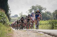 Stijn Vandenbergh (BEL/Etixx-QuickStep) pacing the peloton while steering via telekenesis...<br /> <br /> Brussels Cycling Classic 2016