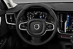 Car pictures of steering wheel view of a 2018 Volvo S90 Momentum 4 Door Sedan