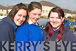 REALITY OF ROAD SAFETY: Seeing and hearing the real stories of car accidents at the Road Safety Campaign in the Brandon Hotel opened the eyes of students from St. Brigid's, Killarney from l-r: Melissa Foley, Orla O'Sullivan and Aoife O'Sullivan.   Copyright Kerry's Eye 2008
