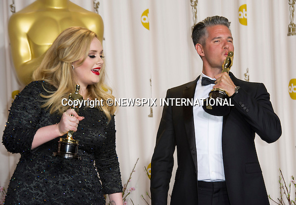 "ADELE AND PAUL EPWORTH.winner of the Bets Original Song Oscar at the 85th Annual Academy Awards, Dolby Theatre, Hollywood, Los Angeles_24/02/2013.Mandatory Photo Credit: ©Dias/Newspix International..**ALL FEES PAYABLE TO: ""NEWSPIX INTERNATIONAL""**..PHOTO CREDIT MANDATORY!!: NEWSPIX INTERNATIONAL(Failure to credit will incur a surcharge of 100% of reproduction fees)..IMMEDIATE CONFIRMATION OF USAGE REQUIRED:.Newspix International, 31 Chinnery Hill, Bishop's Stortford, ENGLAND CM23 3PS.Tel:+441279 324672  ; Fax: +441279656877.Mobile:  0777568 1153.e-mail: info@newspixinternational.co.uk"