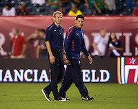Jurgen Klinsmann, Martin Vasquez. The USMNT tied Mexico, 1-1, during their game at Lincoln Financial Field in Philadelphia, PA.