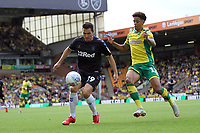 Jamal Lewis of Norwich City challenges Stewart Downing of Middlesbrough during Norwich City vs Middlesbrough, Sky Bet EFL Championship Football at Carrow Road on 15th September 2018