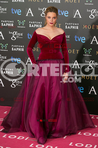 Carolina Bang attend the 2015 Goya Awards at Auditorium Hotel, Madrid,  Spain. February 07, 2015.(ALTERPHOTOS/)Carlos Dafonte) /NORTEphoto.com