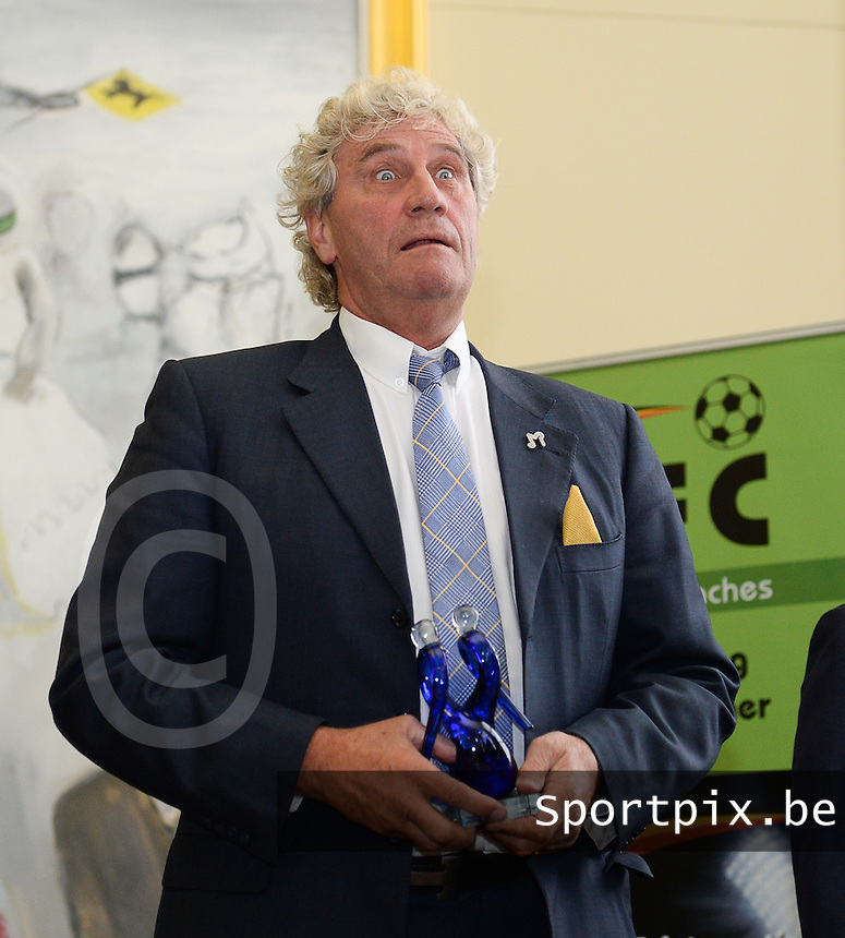 20150529 – OOSTENDE , BELGIUM : Jean-Marie Pfaff pictured during  the 1st edition of the Sparkle  award ceremony , Friday 29 May 2015, in Oostende . The Sparkle  is an award for the best female soccer player during the season 2014-2015 comparable to the Golden Shoe / Gouden Schoen / Soulier D'or for Men . PHOTO DAVID CATRY