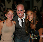 Mike Marino (New Jersey's Bad Boy of Comedy) poses with his nieces at his Comedy Show Live at Asbury Park's Paramount Theater, Asbury, New Jersey on August 9, 2008. Coming to support Mike is actor Danny Aiello. (Photo by Sue Coflin/Max Photos_