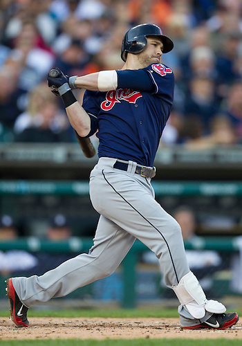 June 05, 2012:  Cleveland Indians second baseman Jason Kipnis (22) at bat during MLB game action between the Cleveland Indians and the Detroit Tigers at Comerica Park in Detroit, Michigan.  The Indians defeated the Tigers 4-2.