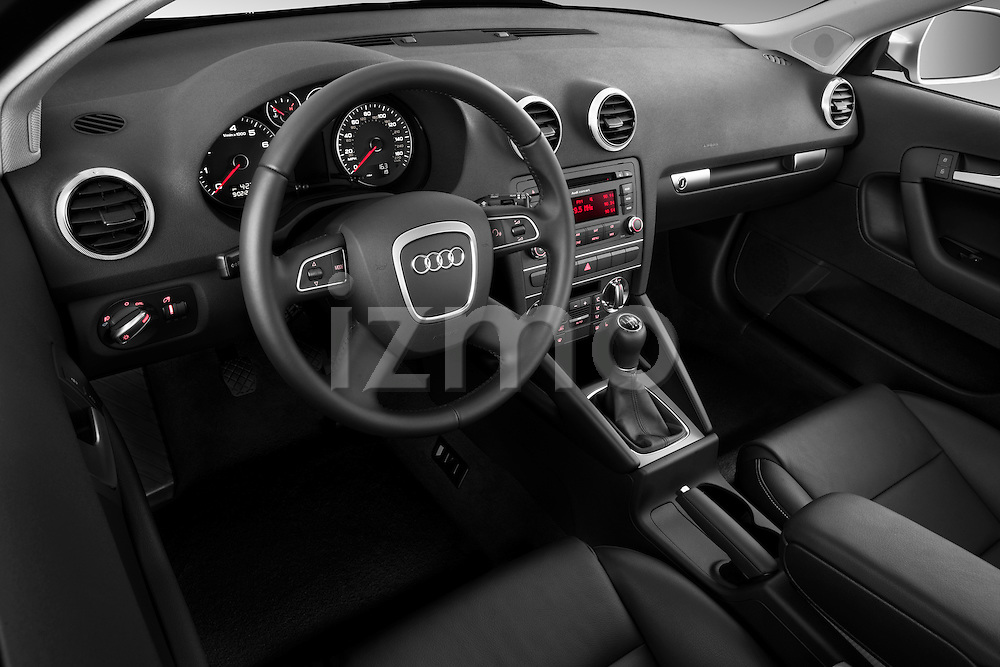 High angle dashboard view of a 2003 - 2012 Audi A3 Premium Sportback Hatchback.