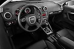 High angle dashboard view of a 2003 - 2012 Audi A3 Premium Sportback Hatchback.