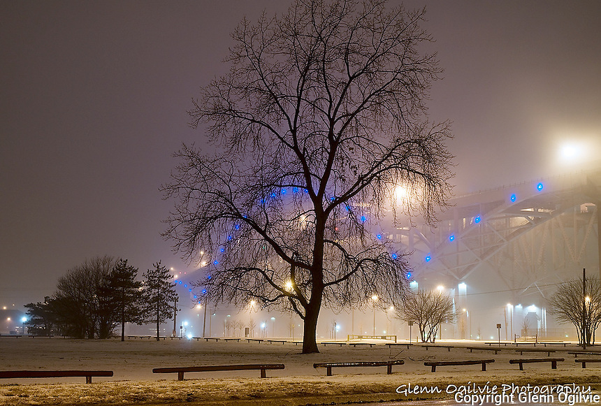 Point Edward Blue Water Bridge fog