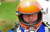 Jul. 19, 2009; Augusta, GA, USA; IHBA top fuel hydro driver Ron McLellan prior to racing during the Augusta Southern Nationals on the Savannah River. Mandatory Credit: Mark J. Rebilas-