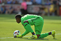 San Jose, CA - Thursday July 28, 2016: Andre Blake during a Major League Soccer All-Star Game match between MLS All-Stars and Arsenal FC at Avaya Stadium.