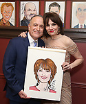 Adam Heller and Beth Leavel during the Beth Leavel Portrait unveiling at Sardi's on 3/26/2019 in New York City.