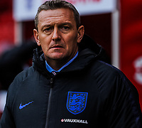 England U21's manager Aidy Boothroyd during the International Euro U21 Qualification match between England U21 and Ukraine U21 at Bramall Lane, Sheffield, England on 27 March 2018. Photo by Stephen Buckley / PRiME Media Images.