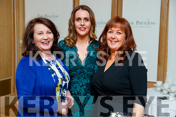 Mary O'Connor, Marian O'Connor and Caitriona Dennehy, enjoying the Cordal GAA social at Ballygarry House Hotel & Spa, Tralee, on Saturday night last.