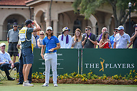 Tommy Fleetwood (ENG) looks over his tee shot on 1 during round 3 of The Players Championship, TPC Sawgrass, at Ponte Vedra, Florida, USA. 5/12/2018.<br /> Picture: Golffile | Ken Murray<br /> <br /> <br /> All photo usage must carry mandatory copyright credit (&copy; Golffile | Ken Murray)