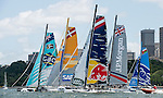 Competitors racing during Day 2 of the Extreme Sailing Series Act 8 Final Showdown on 12 December 2014, in Sydney, Australia. Photo by Victor Fraile / Power Sport Images