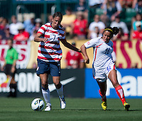 Shannon Boxx, Cristin Granados.  The USWNT defeated Costa Rica, 8-0, during a friendly match at Sahlen's Stadium in Rochester, NY.