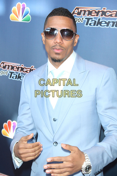 NEWARK, NJ - MARCH 2: Nick Cannon at the beginning of  Season 10 of America&iacute;s Got Talent in Newark, New Jersey on March 2, 2015. <br /> CAP/MPI/RW<br /> &copy;RW/MPI/Capital Pictures