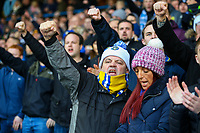 Leeds United fans chant as their team takes to the field<br /> <br /> Photographer Alex Dodd/CameraSport<br /> <br /> The EFL Sky Bet Championship - Leeds United v Bristol City - Saturday 24th November 2018 - Elland Road - Leeds<br /> <br /> World Copyright &copy; 2018 CameraSport. All rights reserved. 43 Linden Ave. Countesthorpe. Leicester. England. LE8 5PG - Tel: +44 (0) 116 277 4147 - admin@camerasport.com - www.camerasport.com