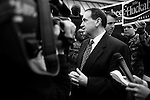 December 8, 2007. Columbia, SC.. Former Arkansas governor and presidential contender Mike Huckabee greeted diners at the Lizard's Thicket Restaurant in Columbia, SC, where he discussed his rise in the polls and the future of his campaign.