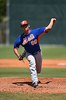 New York Mets pitcher Brad Wieck (80) during a minor league spring training game against the Miami Marlins on March 30, 2015 at the Roger Dean Complex in Jupiter, Florida.  (Mike Janes/Four Seam Images)