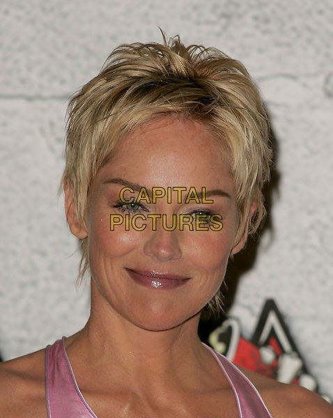 SHARON STONE.Attends the 2004 Mtv Movie Awards held at The Sony Picture Studios in Culver City, California  .June 6, 2004.headshot, portrait.www.capitalpictures.com.sales@capitalpictures.com.©Capital Pictures