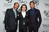 NEW YORK, NY - JANUARY 3: Luca Guadagnino, Timothee Chalamet and Armie Hammer at the New York Film Critics Circle Awards at TAO Downtown in New York City on January 3, 2018. <br /> CAP/MPI/JP<br /> &copy;JP/MPI/Capital Pictures