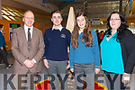 Two Colaiste na Sceilge Students are looking forward to a European experience pictured l-r; John O'Connor(Principal), Ethan Kelly(SAP Ireland Co-Op Learning Scholarship in Germany), Laura Dwyer(EIL Intercultural Learning Explore Award) & Mary Golden(Career Guidance Counselor).