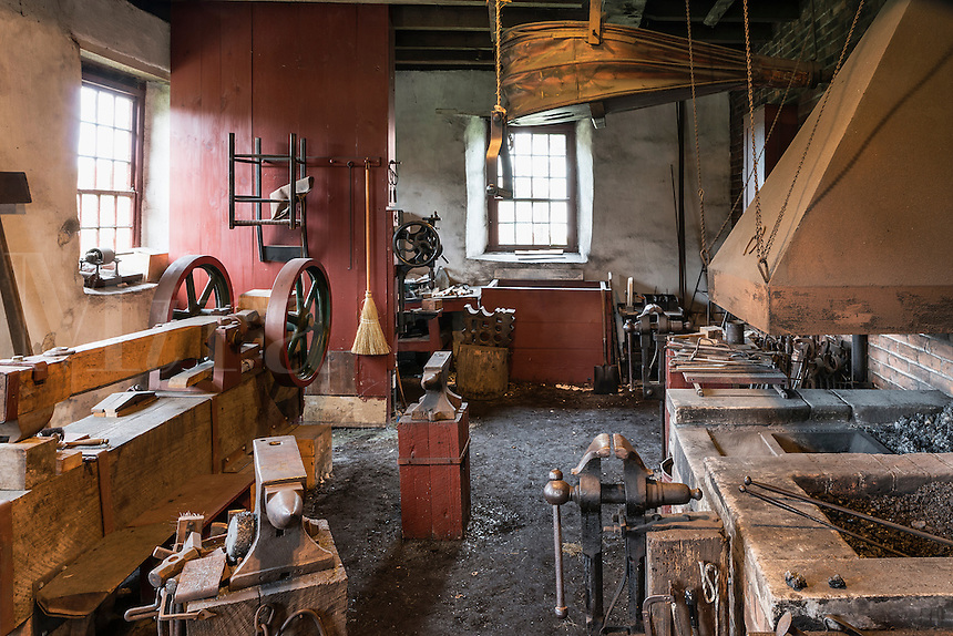 Blacksmith shop, Hancock Shaker Village, Hancock, Massachusetts, USA
