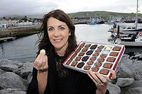Carol Kinsella from Gallagher's Delectable Chocolates in Santry, Dublin after she won a gold medal award for her product at the Blas na h-Eireann Food awards during the Dingle Food &amp; Wine festival at the weekend.<br /> Picture by Don MacMonagle<br />  <br /> <br /> <br /> &copy; Photo by Don MacMonagle - macmonagle.com<br /> info@macmonagle.com