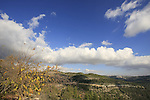 Israel, Jerusalem Mountains, looking towards Jerusalem from Mount Eitan