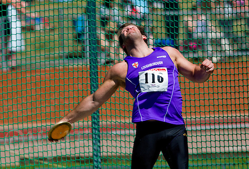 23 MAY 2010 - LOUGHBOROUGH, GBR - Danny Greaves - Mens Discus - Loughborough International Athletics  .(PHOTO (C) NIGEL FARROW)