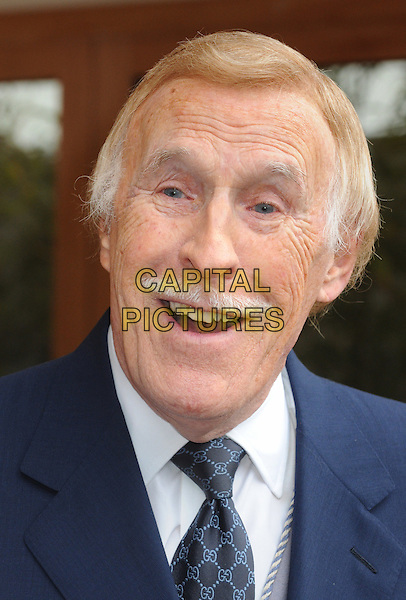 Sir Bruce Forsyth.RHS Chelsea Flower Show Press and VIP Day at Royal Hospital Chelsea, London, England..May 21st 2012.headshot portrait blue white moustache mustache facial hair smiling mouth open.CAP/PP/BK.©Bob Kent/PP/Capital Pictures.