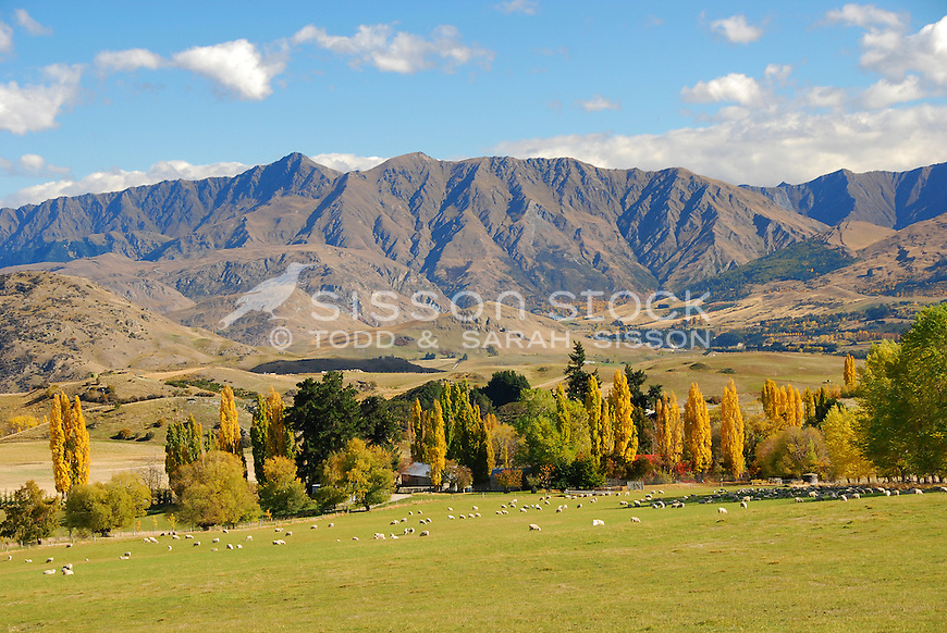 New Zealand Stock Photos | Autumn, Crown Range Road, Queenstown, Wanaka, South Island