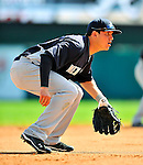 8 March 2011: New York Yankees' infielder Brandon Laird in action during a Spring Training game against the Atlanta Braves at Champion Park in Orlando, Florida. The Yankees edged out the Braves 5-4 in Grapefruit League action. Mandatory Credit: Ed Wolfstein Photo