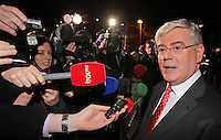 08/02/'11  Labour leader, Eamon Gilmore pictured this evening at TV3, Ballymount Dublin where they participated in the first televised leader's debate of Election 2011...Picture Colin Keegan, Collins, Dublin.