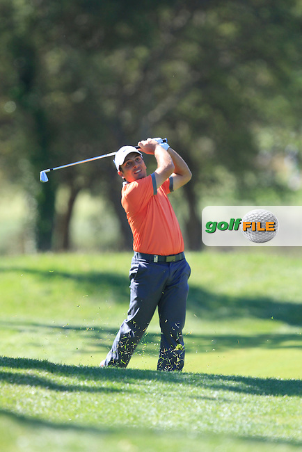 Francesco Molinari (ITA) on the 18th during Friday's Round 2 of The Open De Espana at The PGA Catalunya Resort. 16th May 2014.<br /> Picture:  Thos Caffrey / www.golffile.ie