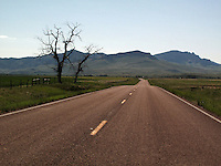 Lonely highways in Montana.