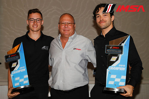 Champions #47 Forty 7 Motorsports Norma M30, LMP3: Austin McCusker, Rodrigo Pflucker with Todd Snyder of IMSA